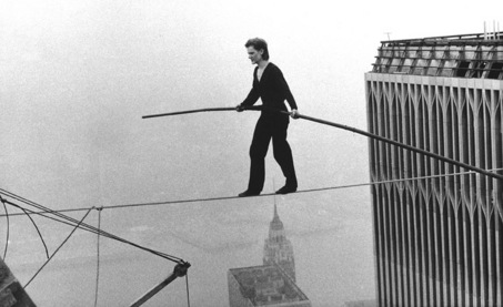 A documentary symbolically resurrected the Twin Towers of the World Trade Center by showing us a crazy French man who walked a tight rope between them in the 1970s.